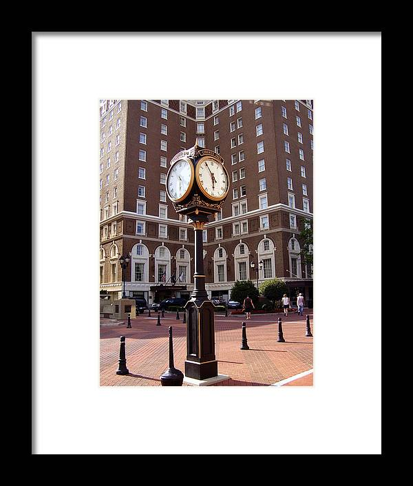 Poinsett Hotel Framed Print featuring the photograph Poinsett Hotel Greeenville Sc by Flavia Westerwelle