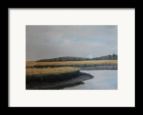 Marsh Framed Print featuring the painting Point Comfort by Stanton Allaben
