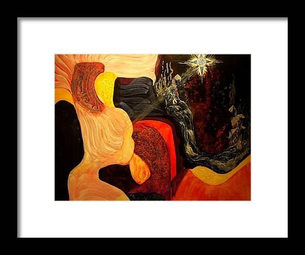 Young Girl Framed Print featuring the painting Point Of View by Pam Ellis