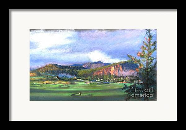 Landscape Framed Print featuring the painting Point Of View by Shirley Leswick