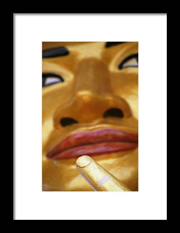 Buddha Framed Print featuring the photograph Pointing Buddha by Patrick Klauss