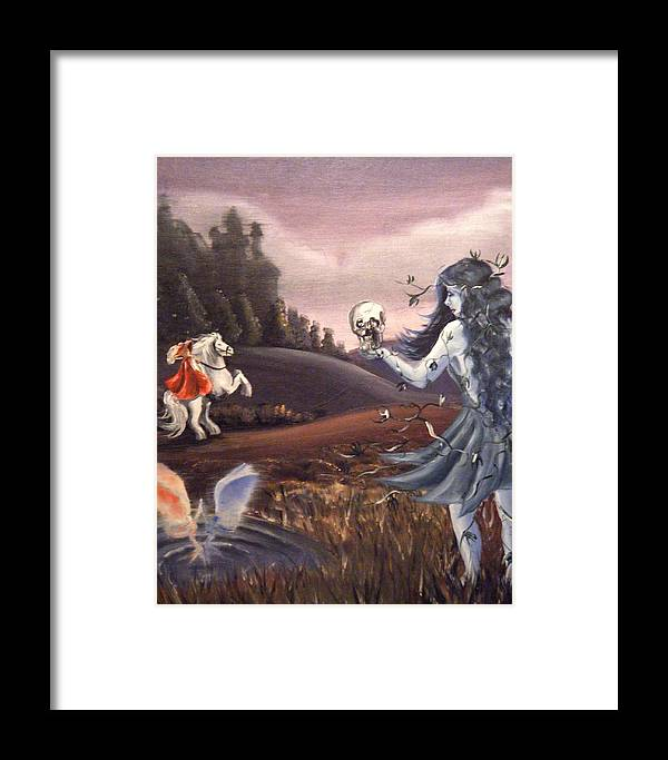 Fairies Framed Print featuring the painting Poison Ivy by Scarlett Royal