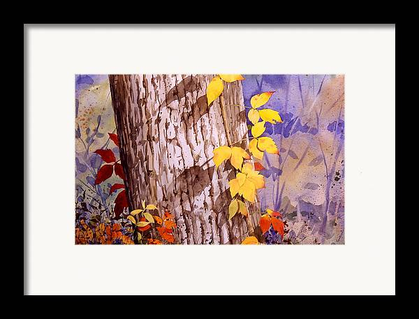 Poison Ivy Framed Print featuring the painting Poisonous Beauty by Faye Ziegler