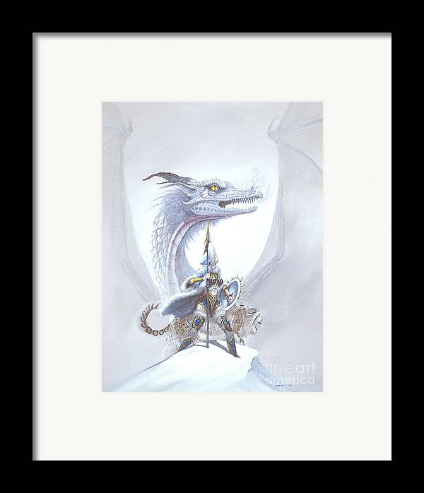 Dragon Framed Print featuring the painting Polar Princess by Stanley Morrison