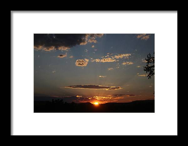 Sunset Framed Print featuring the photograph Polarized Sunset by Allison Nance