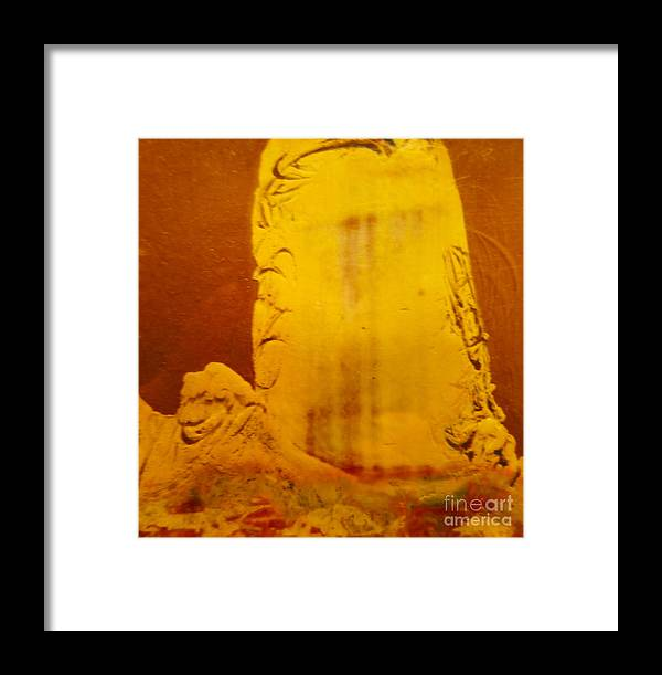 Polaroid Framed Print featuring the photograph Polaroid Experimental Drawing # 4 by Jeff Birr