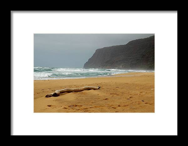 Beach Framed Print featuring the photograph Polihale State Park by Kathy Schumann