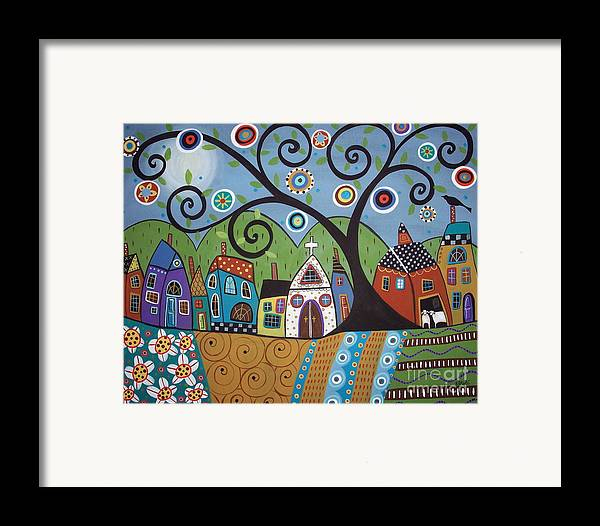 Church Framed Print featuring the painting Polkadot Church by Karla Gerard