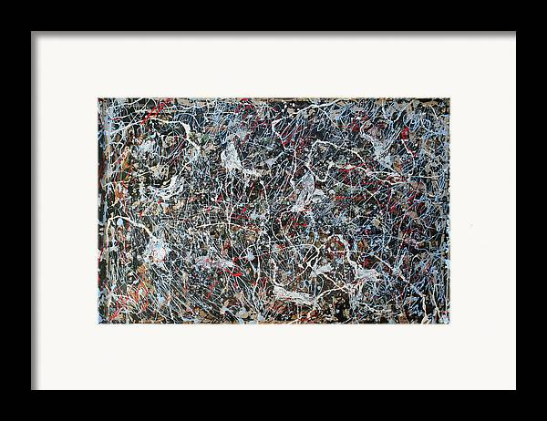 Framed Print featuring the painting Pollock's Ghosts by Biagio Civale