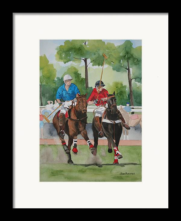 Polo Framed Print featuring the painting Polo In The Afternoon 2 by Jean Blackmer