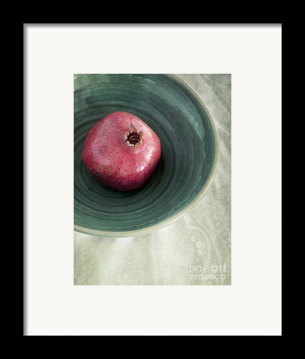 Punica Granatum Framed Print featuring the photograph Pomegranate by Priska Wettstein