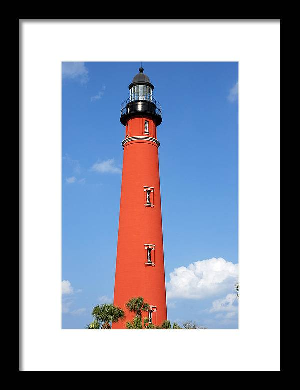 Lighthouse Framed Print featuring the photograph Ponce Inlet Lighthouse by Classic Color Creations