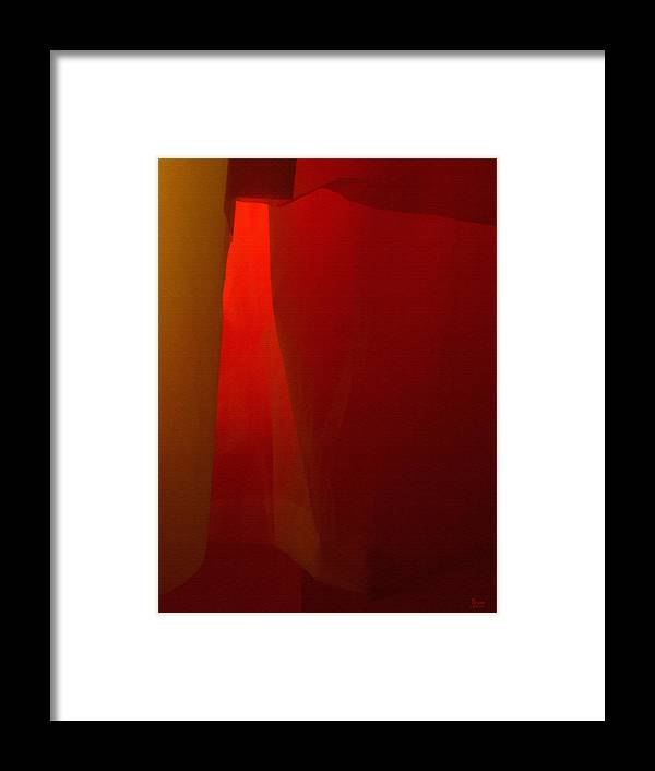 Abstract Framed Print featuring the photograph Poncho Abstract 1 by Jeff Breiman