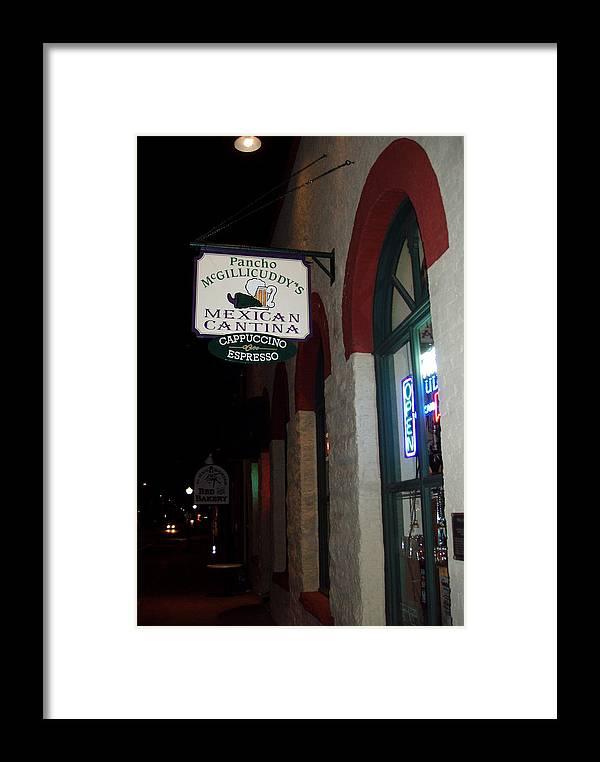 Restaurant Framed Print featuring the photograph Poncho Mcgillicuddys by Wayne Potrafka
