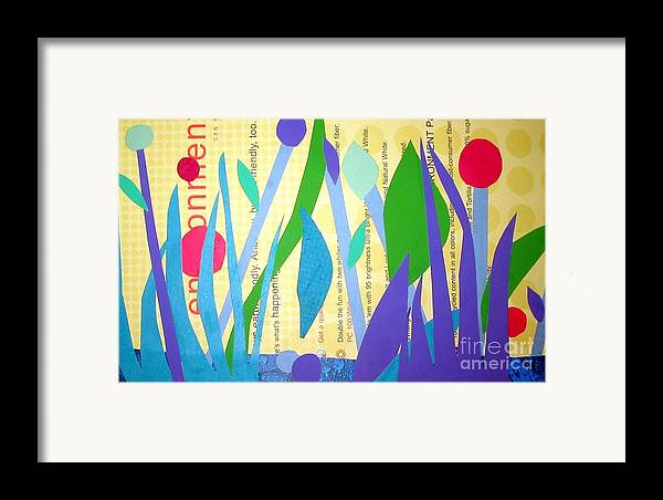 Landscape Framed Print featuring the mixed media Pond Life by Debra Bretton Robinson