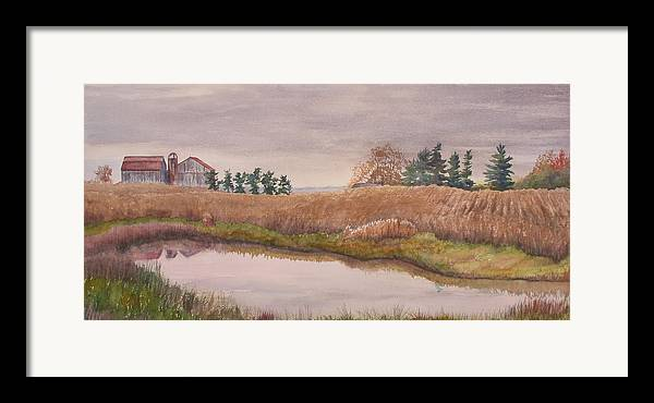 Farm Framed Print featuring the painting Pond Magic by Debbie Homewood