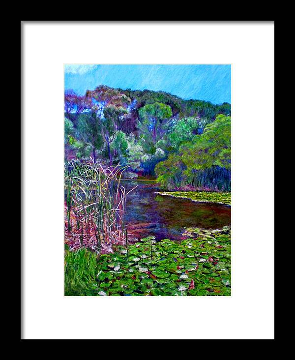 Pond Framed Print featuring the painting Pond Of Tranquility by Michael Durst