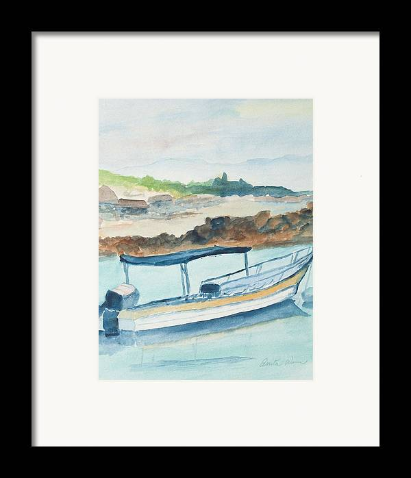 Landscpe Marine Framed Print featuring the painting Ponga by Anita Wann