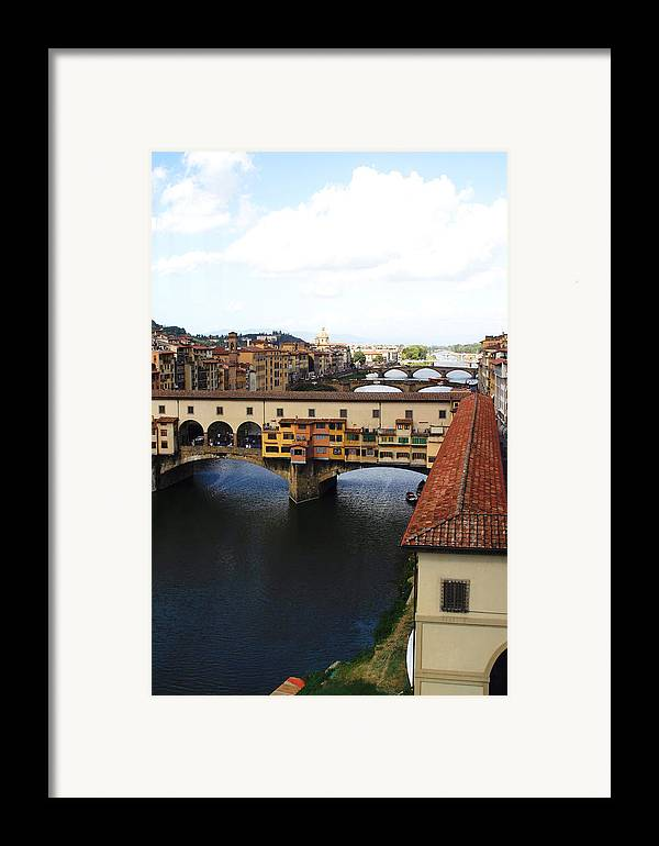Florence Framed Print featuring the photograph Ponte Vechio Florence by Mathew Lodge