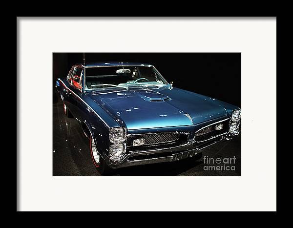 Transportation Framed Print featuring the photograph Pontiac Gto 2 by Wingsdomain Art and Photography