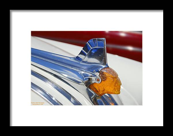 Pontiac Framed Print featuring the photograph Pontiac Hood Ornament by Larry Keahey