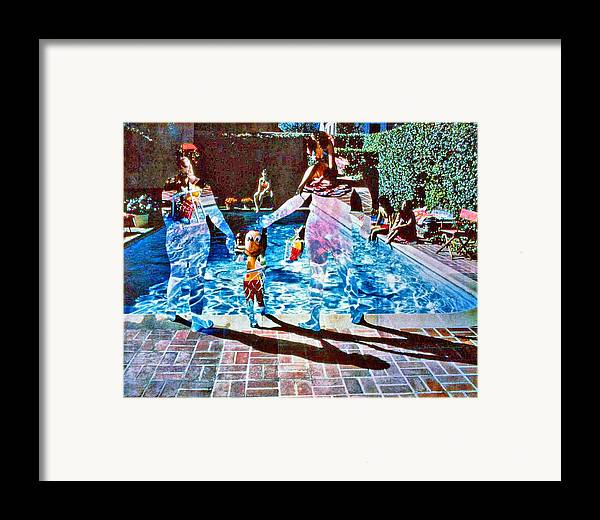 Pool Framed Print featuring the photograph Pool Party Sold by Randy Sprout