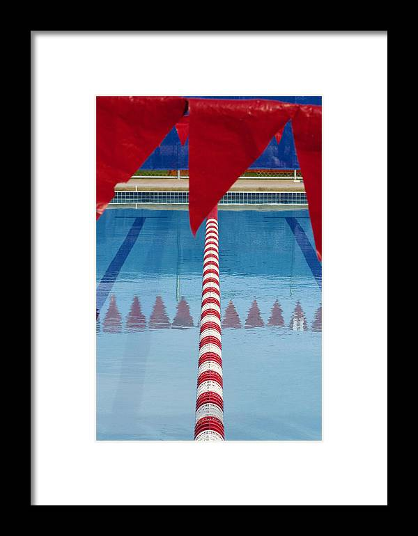 Flag Framed Print featuring the photograph Pool by Skip Hunt