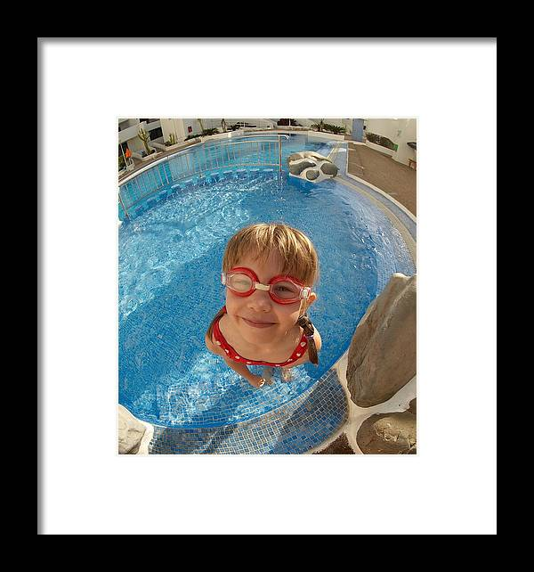 Tenerife Framed Print featuring the photograph Pool Tester by Jouko Lehto