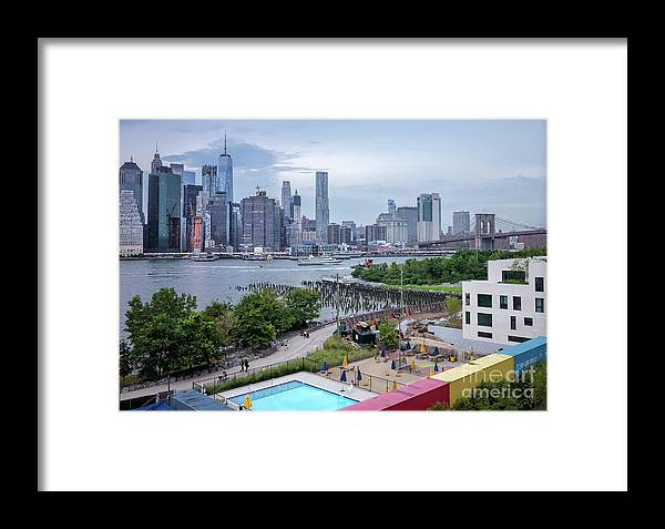 Brooklyn Framed Print featuring the photograph Pool With A View, Brooklyn, New York #130706 by John Bald