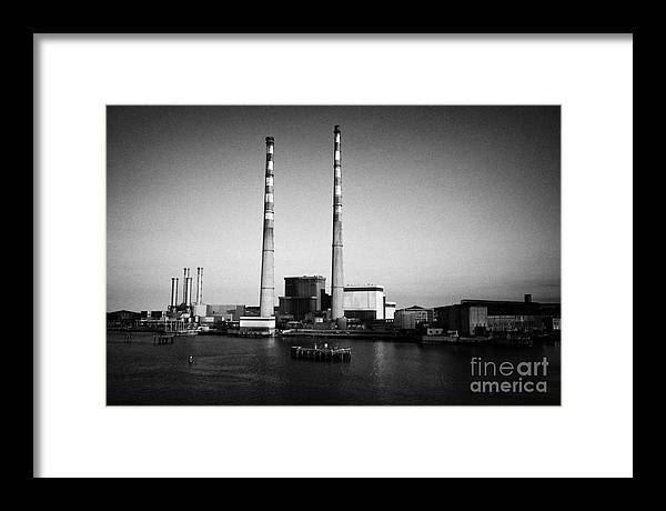 Dublin Framed Print featuring the photograph Poolbeg Power Station Dublin Port Ireland by Joe Fox