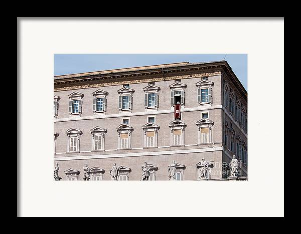 Pope Framed Print featuring the photograph Pope Benedict Xvi by Andy Smy