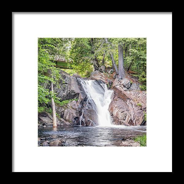 Poplar Stream Framed Print featuring the photograph Poplar Stream Falls by Michelle Olivier