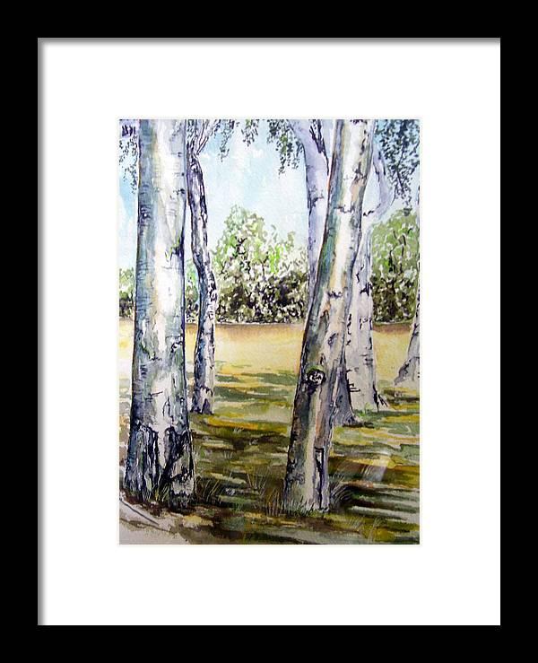 Poplar Framed Print featuring the painting Poplar Tree  by Paul Sandilands