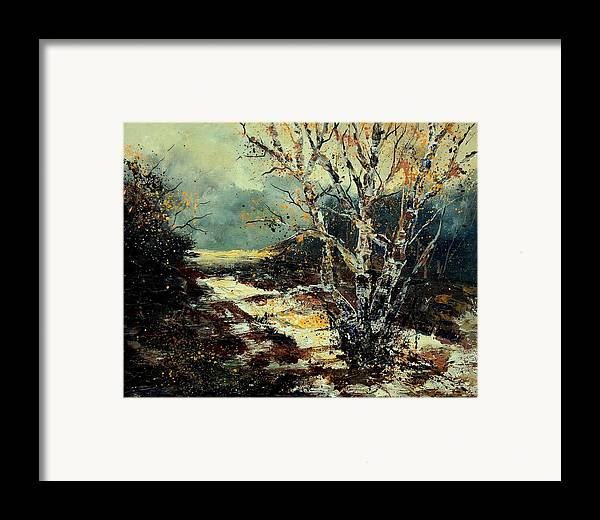 Tree Framed Print featuring the painting Poplars 45 by Pol Ledent