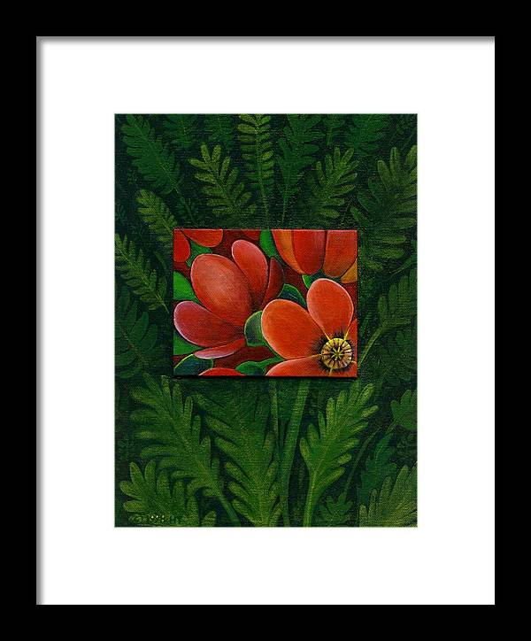 Poppy Framed Print featuring the painting Poppies by Helena Tiainen