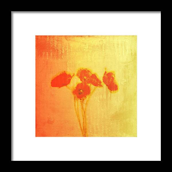 Poppies Framed Print featuring the painting Poppies by Jude Reid