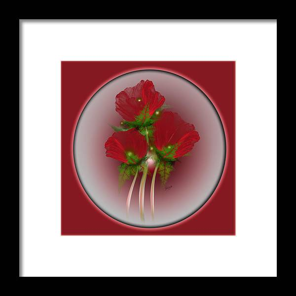 Fractal Framed Print featuring the digital art Poppies by Karla White