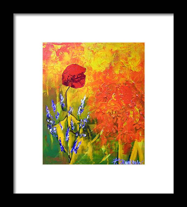 Poppies Framed Print featuring the painting Poppies by Paul Sandilands