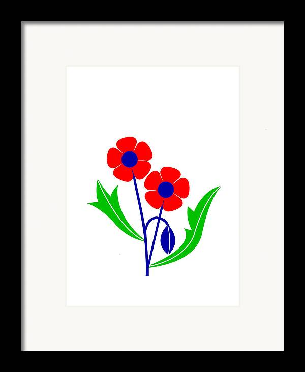 Poppy Framed Print featuring the digital art Poppy by Asbjorn Lonvig