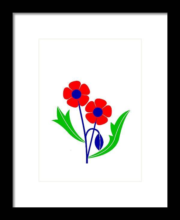 Poppy Framed Print featuring the digital art Poppy by Asbjorn Lonvig