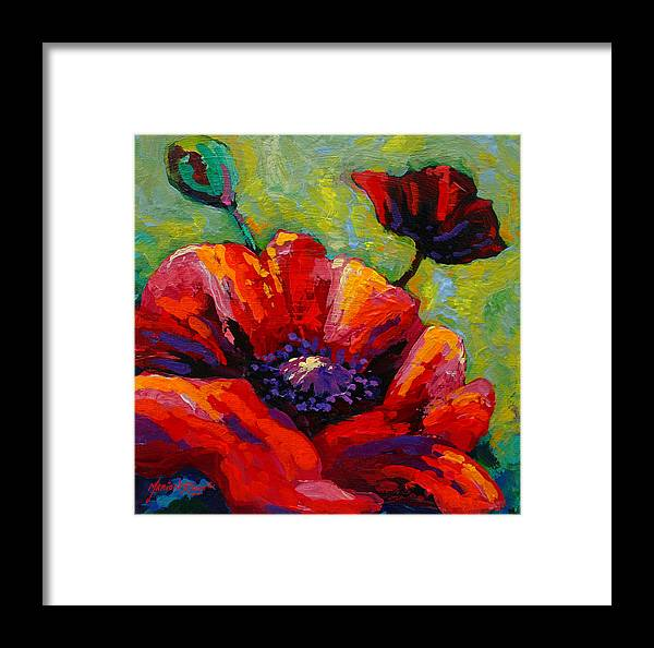 Poppies Framed Print featuring the painting Poppy I by Marion Rose
