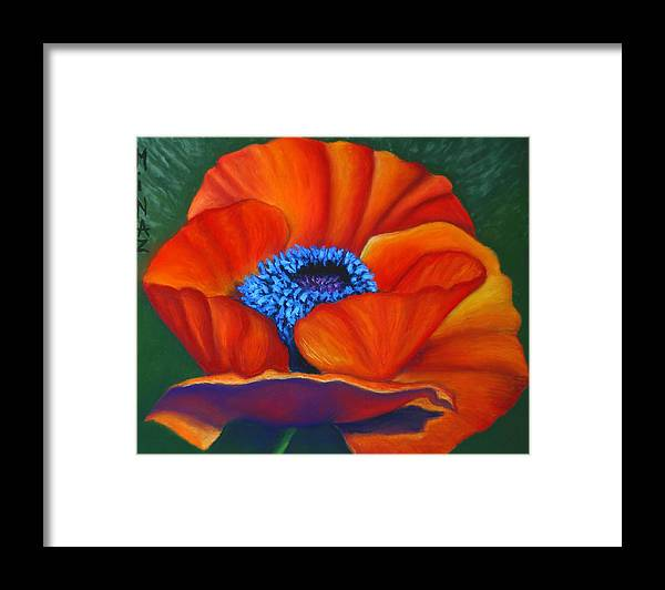 Red Flower Framed Print featuring the painting Poppy Pleasure by Minaz Jantz