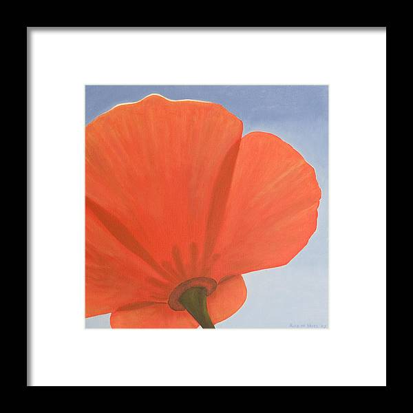 Flower Framed Print featuring the painting Poppy by Rob De Vries
