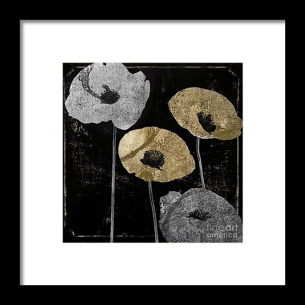 Gold Poppy Framed Print featuring the painting Poppyville by Mindy Sommers
