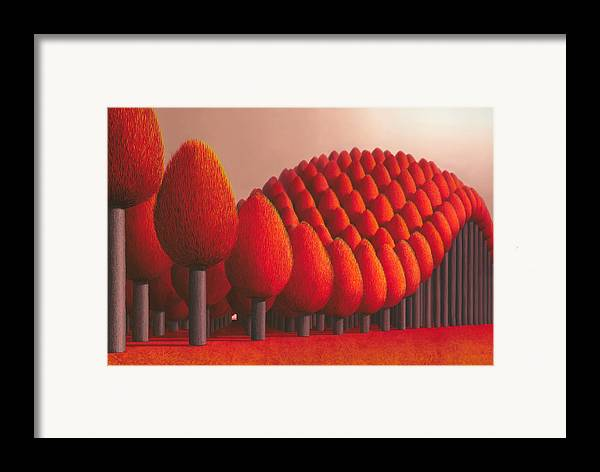 Tree Framed Print featuring the painting Populus Flucta by Patricia Van Lubeck