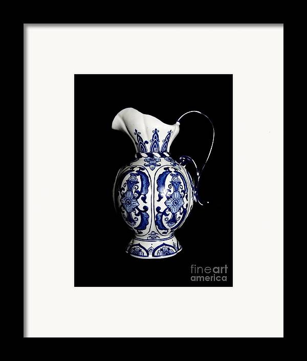 Blue And White Porcelain Framed Print featuring the photograph Porcelain 2 by Jose Luis Reyes