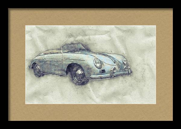 Porsche 356 - Luxury Sports Car 1 - 1948 - Automotive Art - Car Posters by Studio Grafiikka