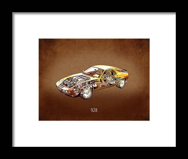 Porsche 928 Framed Print featuring the photograph Porsche 928 1980 by Mark Rogan