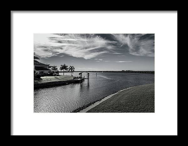Florida Framed Print featuring the photograph Port Charlotte Bay Harbor Waterway From Ohara by Don Kerr