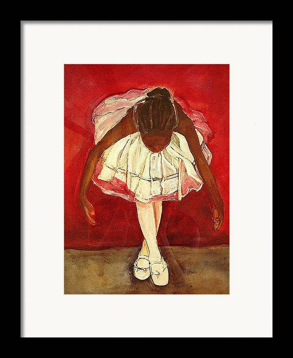 Ballerina Framed Print featuring the painting Port De Bras Forward by Amira Najah Whitfield
